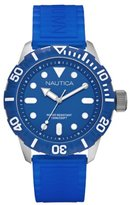 Nautica N-A09601G 44mm Stainless Steel Case Silicone Men's Watch