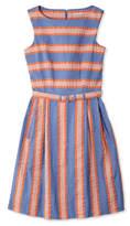 L.L. Bean Signature Seersucker Sleeveless Dress, Stripes