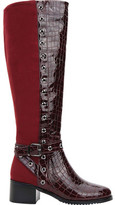 Ann Creek Rucio Two Tone Perforated Trim Over The Knee Boot (Women's)
