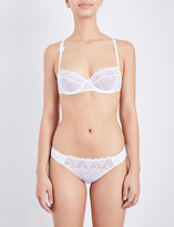 Passionata White nights balcony lace and mesh bra