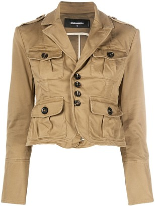 DSQUARED2 Cropped Utility Jacket