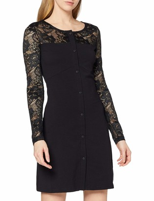 Urban Classics Women's Kleid Ladies Lace Block Dress