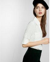 Express original fit large dot portofino shirt