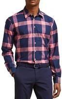 Thomas Pink Cavill Texture Slim Fit Button-Down Shirt