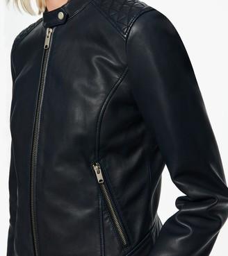 Andrew Marc Goldie Zip-Up Racer Jacket