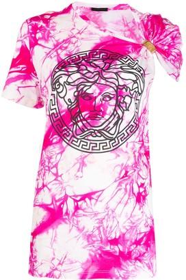 Versace tie-dye one-sleeve T-shirt