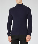 Reiss Tribal Ribbed-Knit Roll-Neck Jumper