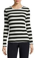 BOSS Eriba Striped Rib-Knit Top