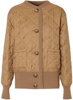 Burberry logo jacquard diamond quilted jacket