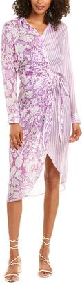 HEMANT AND NANDITA Zoya Wrap Dress