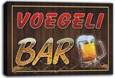 AdvPro Canvas scw3-033931 VOEGELI Name Home Bar Pub Beer Mugs Stretched Canvas Print Sign