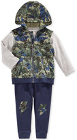 First Impressions Baby Boys' 3-Pc. Camo-Print Hooded Vest, T-Shirt & Pants Set, Only at Macy's