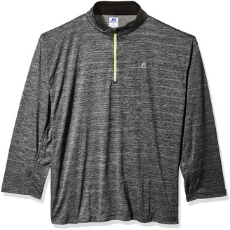 Russell Athletic Men's Big and Tall Ls 1/4 Streak Poly Jersey W/Reflective Trim