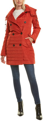 French Connection Straight Fit Short Quilted Coat