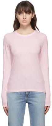 Rag & Bone Pink The Slub Slim Long Sleeve T-Shirt