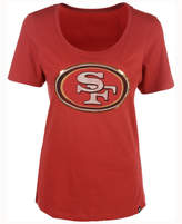 '47 Women's San Francisco 49ers Lux Sequins Scoop T-Shirt