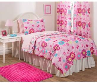 Heritage Club Daisy Floral Bedding Set w/ Reversible Comforter, Full