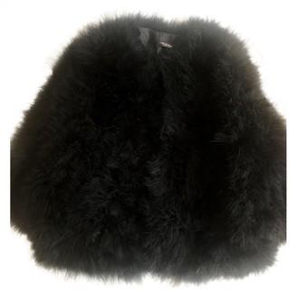 Yves Salomon Black Fur Jackets