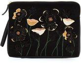 Lizzie Fortunato 'Raffia Garden' clutch bag