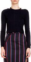 Altuzarra Armstrong Long-Sleeve Cutout Sweater, Navy