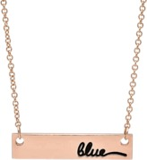 Avanessi Double Sided Name Plate Necklace