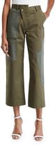 Monse Asymmetric Wide-Leg Crop Cargo Pants