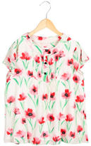Milly Minis Girls' Floral Print Short Sleeve Top
