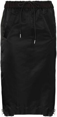 Sacai Asymmetric Panelled Skirt