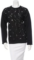 No.21 No. 21 Lace-Paneled Crew Neck Sweater