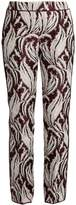 Giambattista Valli Leaf-jacquard flared trousers