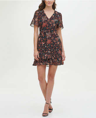 Kensie Chiffon Printed Fit and Flare