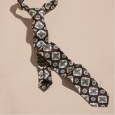 Burberry Slim Cut Jacquard Silk Tie