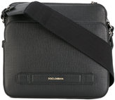 Dolce & Gabbana double compartment messenger bag - men - Calf Leather - One Size