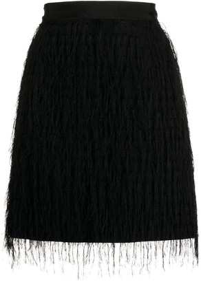Pinko Fringed Mini Skirt