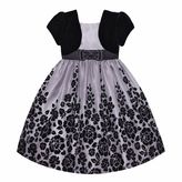 Girls 7-16 & Plus Size American Princess Mock Bolero Floral Dress