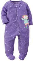 Carter's Baby Girl Print Fleece Sleep & Play