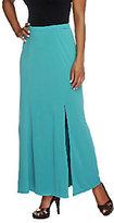 Susan Graver Petite Liquid Knit Gored Maxi Skirt with Slit
