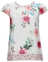 Wallis Cream Floral and Bird Print Blouse