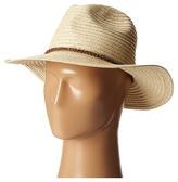 San Diego Hat Company PBF6174 Paper Braid Panama Fedora w/ Diamond Band