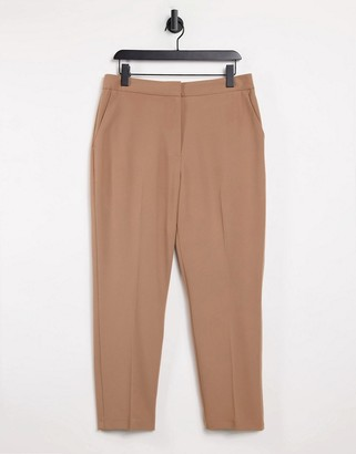 Topshop suit trousers in camel