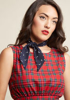 ModCloth It's About Tie Neck Scarf in Navy