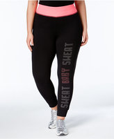 Material Girl Active Plus Size Graphic Leggings, Only at Macy's