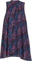 Cutie Bird Print Sleeveless Dress