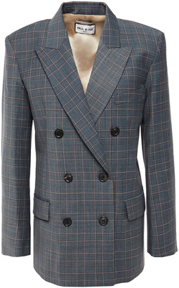 Paul & Joe Double-breasted Checked Woven Blazer