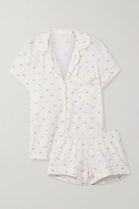 Eberjey Giving Printed Stretch-modal Jersey Pajama Set - Ivory