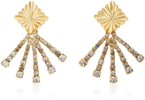 Nicole Romano 18K Gold-Plated Scalloped Crystal Earrings