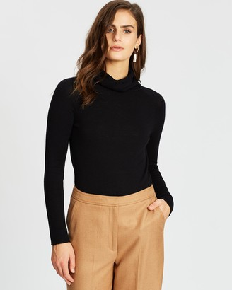 SABA Women's Black Jumpers - Laura Turtle Neck Knit - Size One Size, XXS at The Iconic