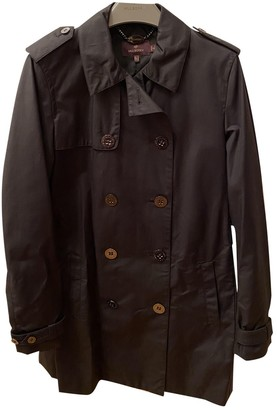 Mulberry Black Wool Trench coats