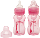 Dr Browns Pink 8-Oz. Baby Bottle - Set of Two