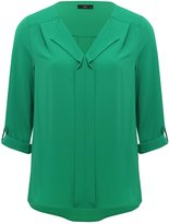 M&Co Pleat front blouse